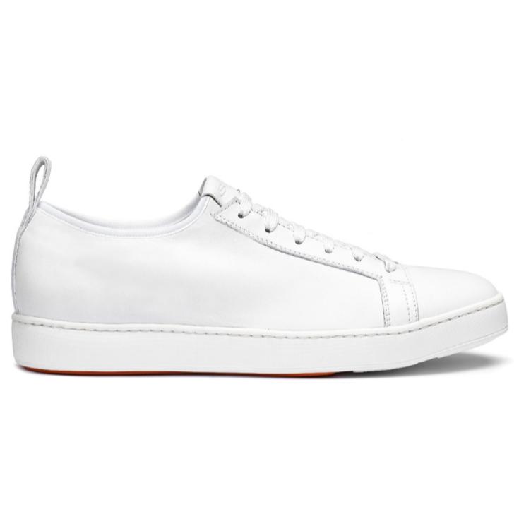 Santoni Mantis Suede Sneakers White Image