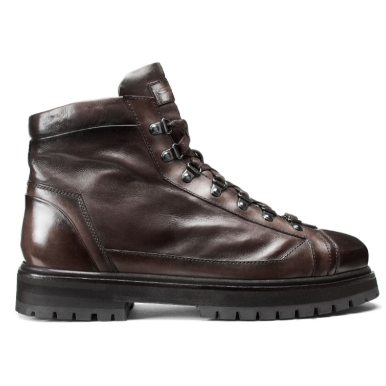 Santoni March AN50 Boots Dark Brown Image