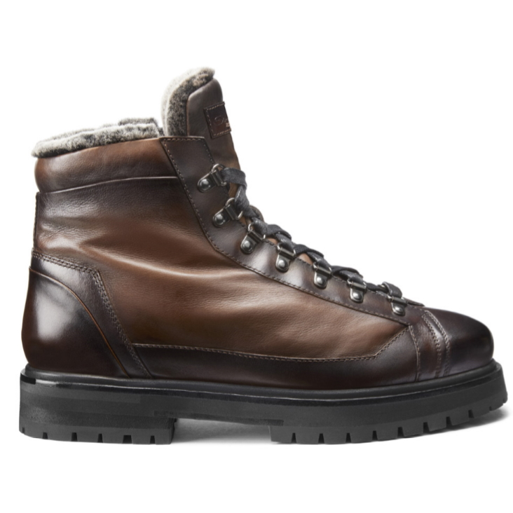 Santoni Mike AN50 Boots Dark Brown Image