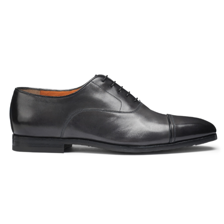Santoni Nicolo S2 Cap Toe Oxfords Gray Image