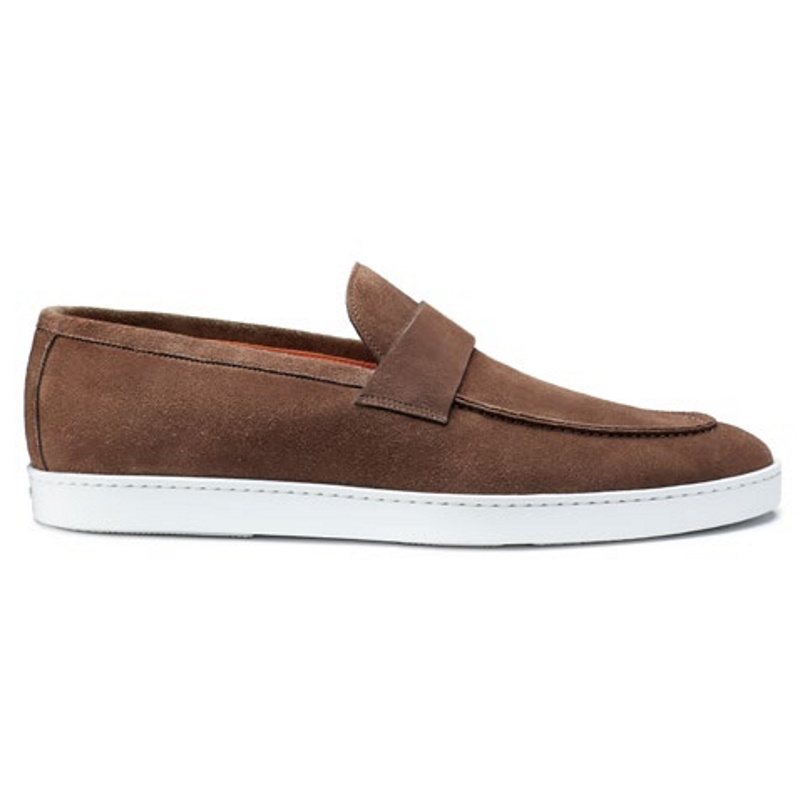 Santoni Pace Suede Slip On Brown Image