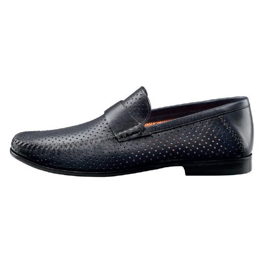 Santoni Paine CL6 Slip On Shoes Blue Image