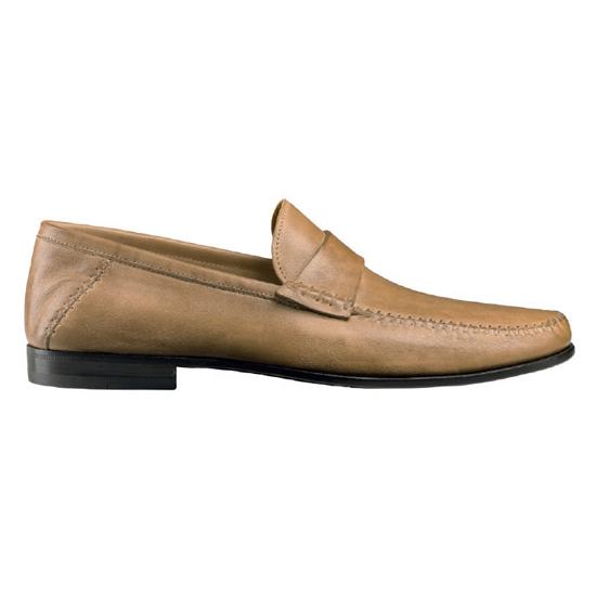Santoni Paine L5 Slip On Shoes Tan Image