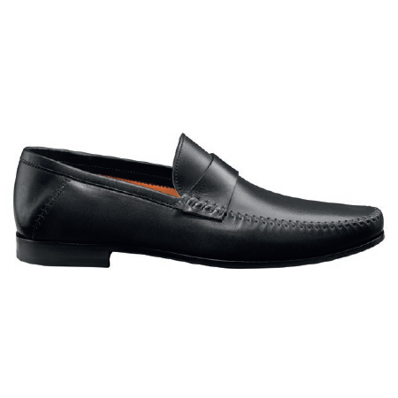 Santoni Paine M1 Slip On Shoes Black Image