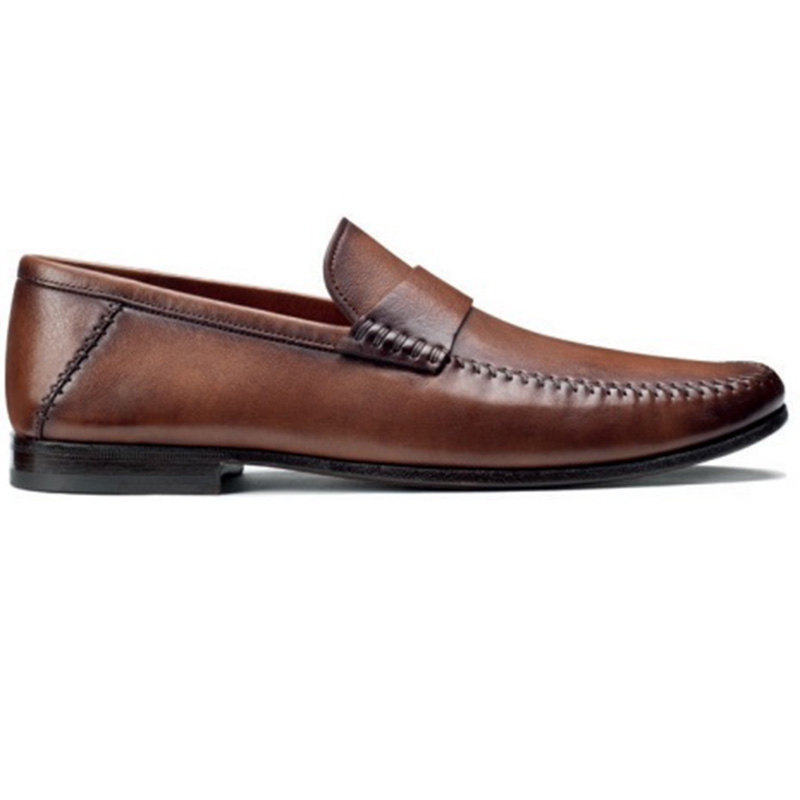 Santoni Paine M2 Penny Loafer Shoes Brown Image
