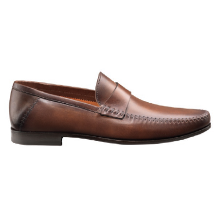 Santoni Paine M2 Slip On Shoes Brown Image