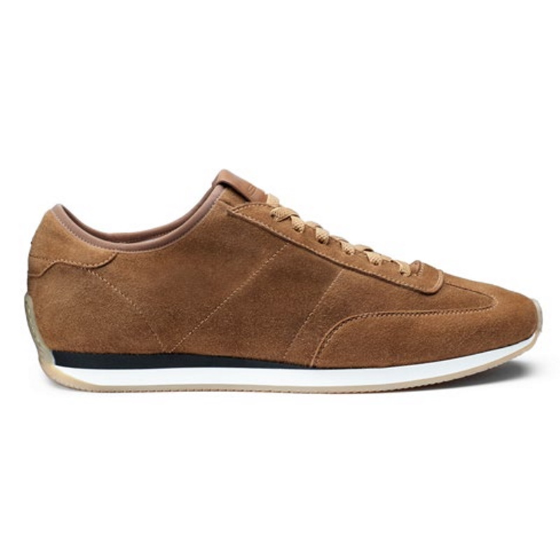 Santoni Pause Suede Sneakers Light Brown Image