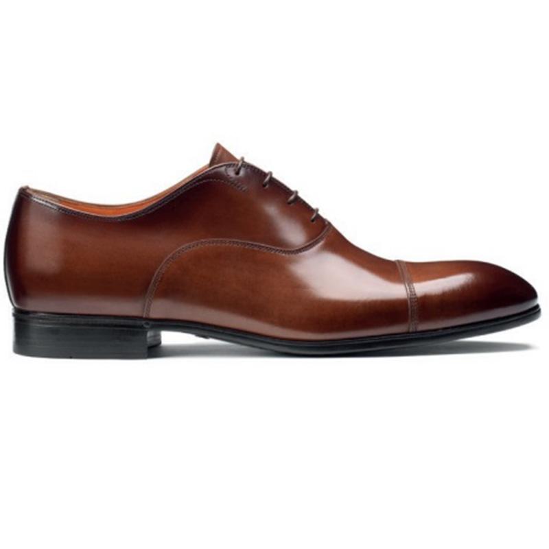 Santoni Salem 01 Oxford Shoes Brown Image
