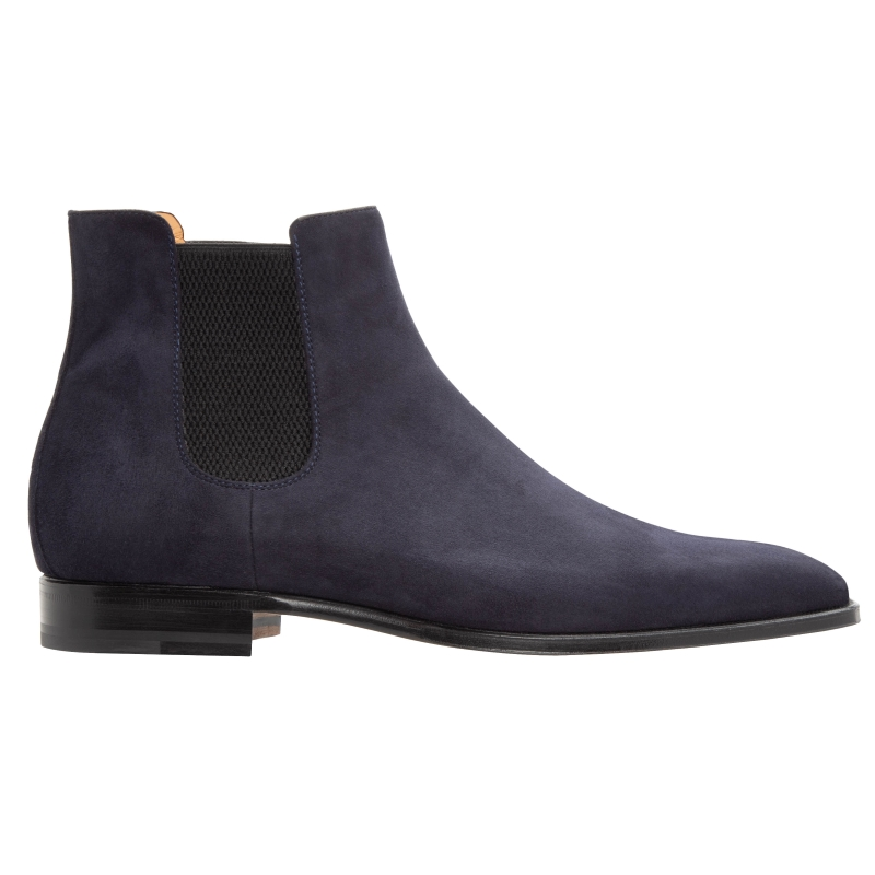 Stemar Ancona Suede Chelsea Boots Blue Image