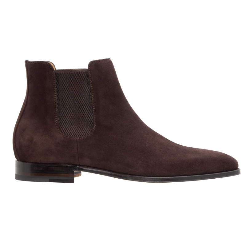 Stemar Ancona Suede Chelsea Boots Dark Brown Image