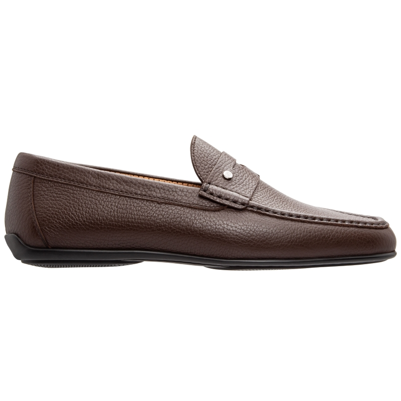 Stemar Bologna Grained Calfskin Loafers Brown Image