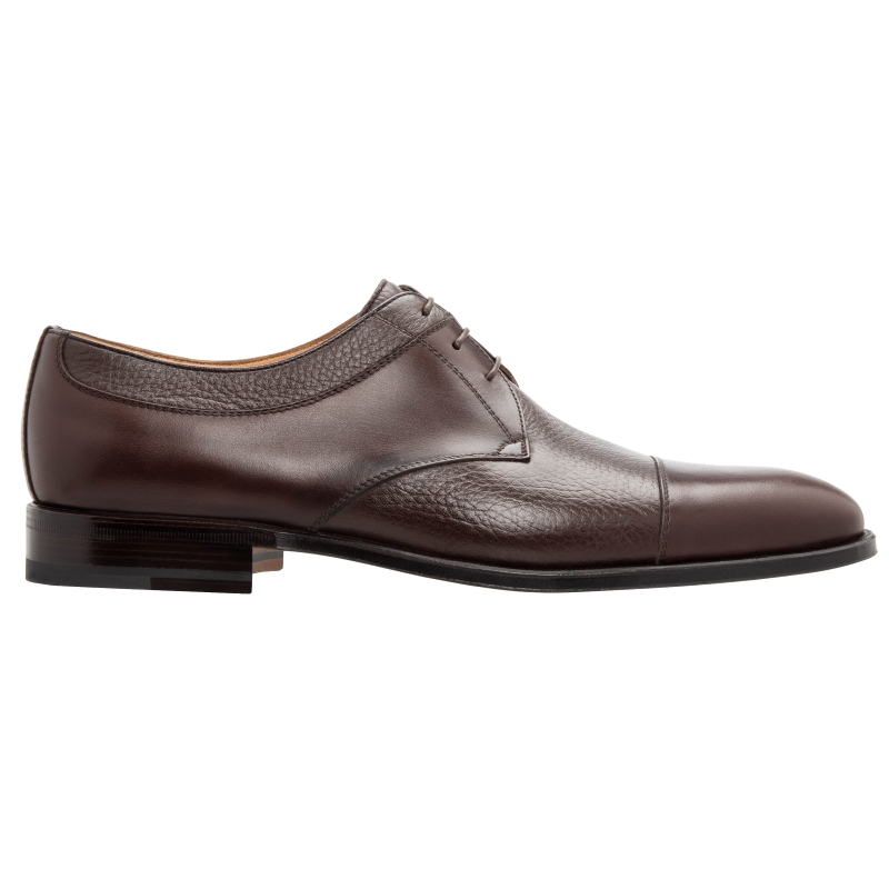 Stemar Cuneo Deerskin & Calfskin Cap Toe Shoes Brown Image
