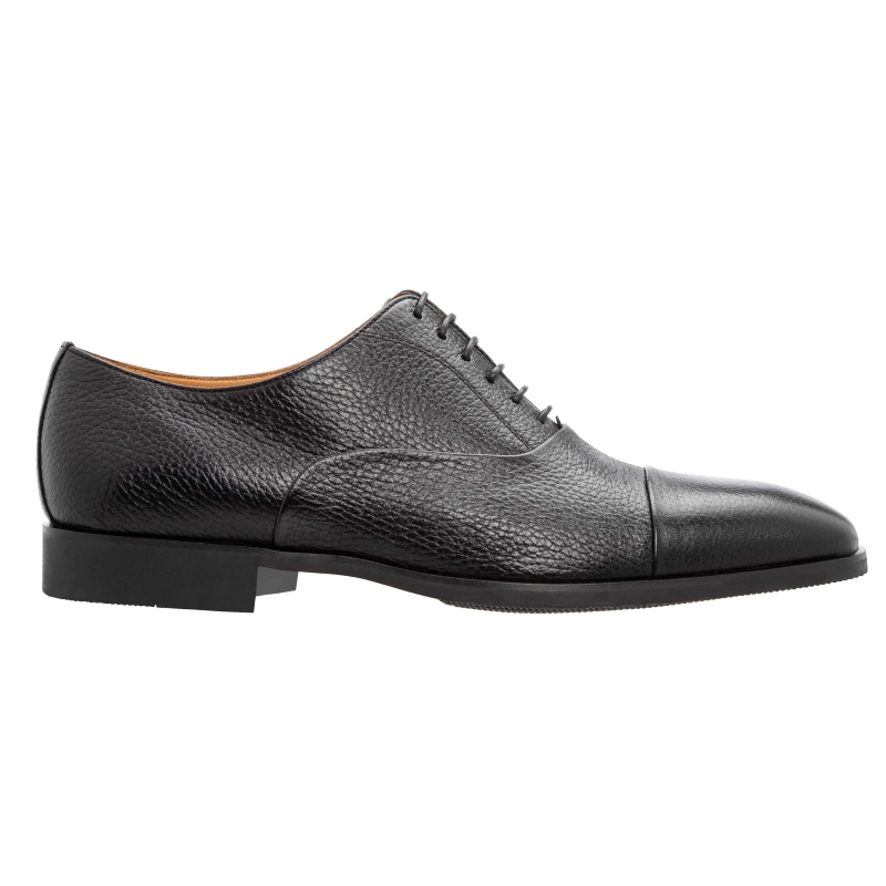 Stemar Ferrara Deerskin Oxfords Black WIDE Image