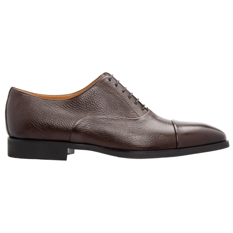 Stemar Ferrara Deerskin Oxfords Brown WIDE Image