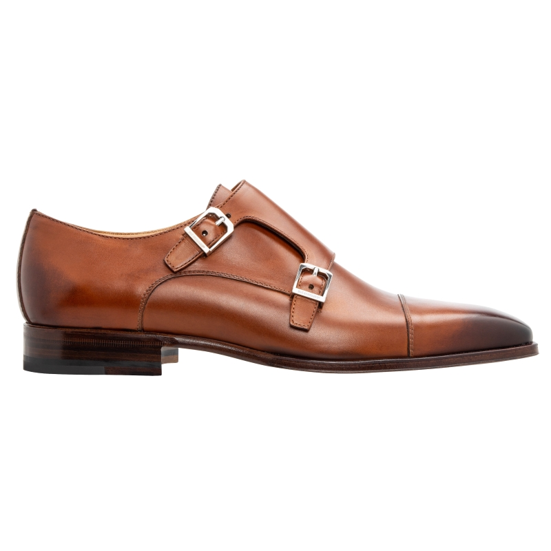Stemar Genova Double Monk Strap Burnished Tan Image