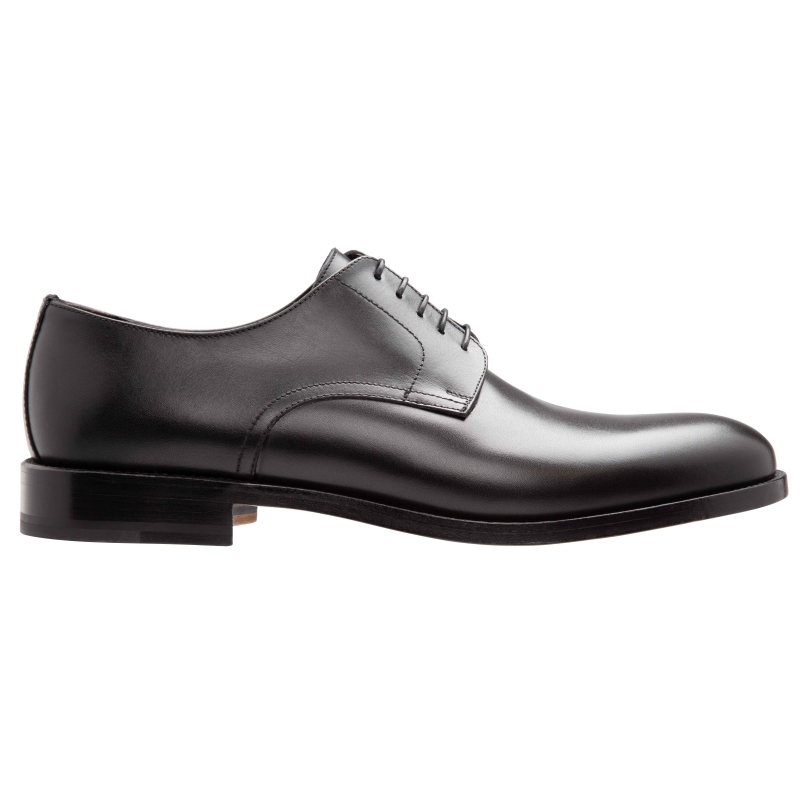 Stemar Lecco Plain Toe Derby Shoes Black Image