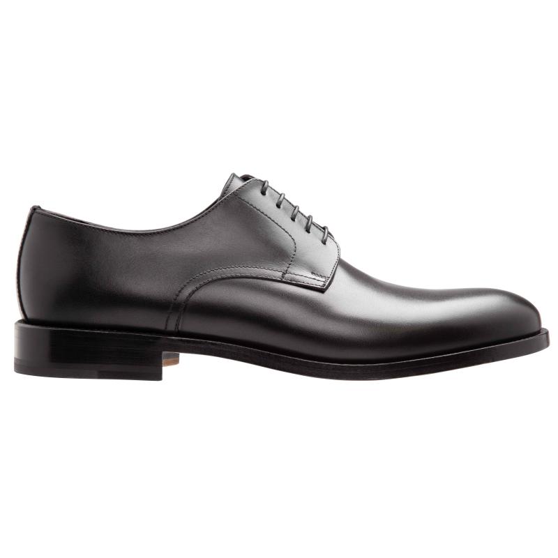 Stemar Lecco Plain Toe Derby Shoes Black Image