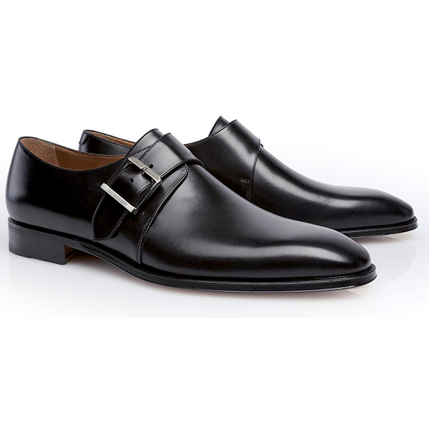 Stemar Lucca Monk Strap Shoes Black Image