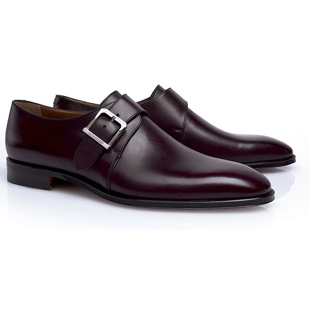 Stemar Lucca Monk Strap Shoes Burgundy | MensDesignerShoe.com