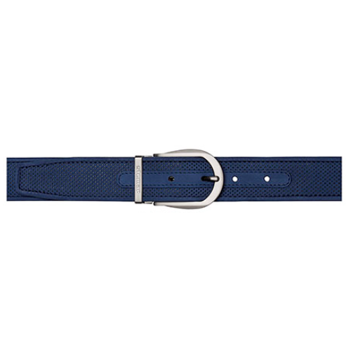Stemar Panarea Perforated Nubuck Belt Blue Image