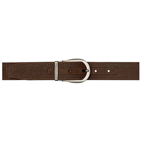 Stemar Panarea Perforated Nubuck Belt Chocolate Brown Image