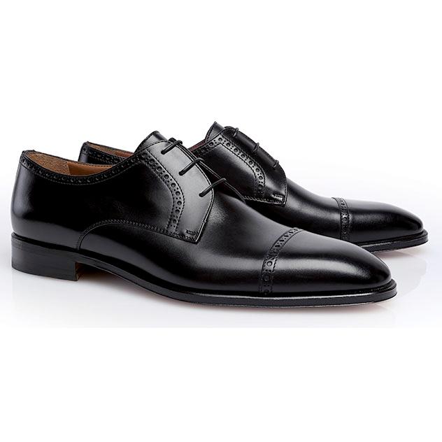 Stemar Perugia Cap Toe Shoes Black Image