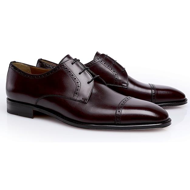 Stemar Perugia Cap Toe Shoes Burgundy Image