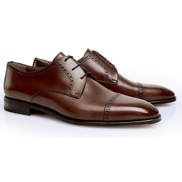 Stemar Perugia Cap Toe Shoes Tan Image