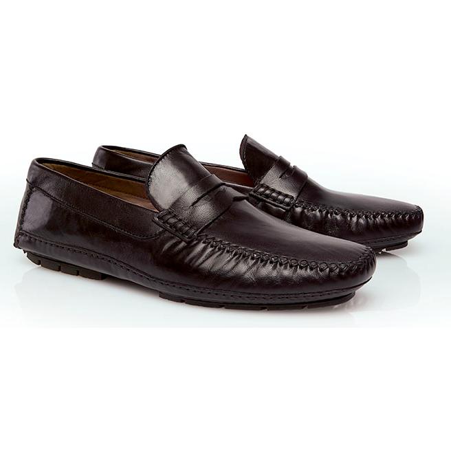 Stemar Ponza Nappa Driving Loafers Dark Brown Image