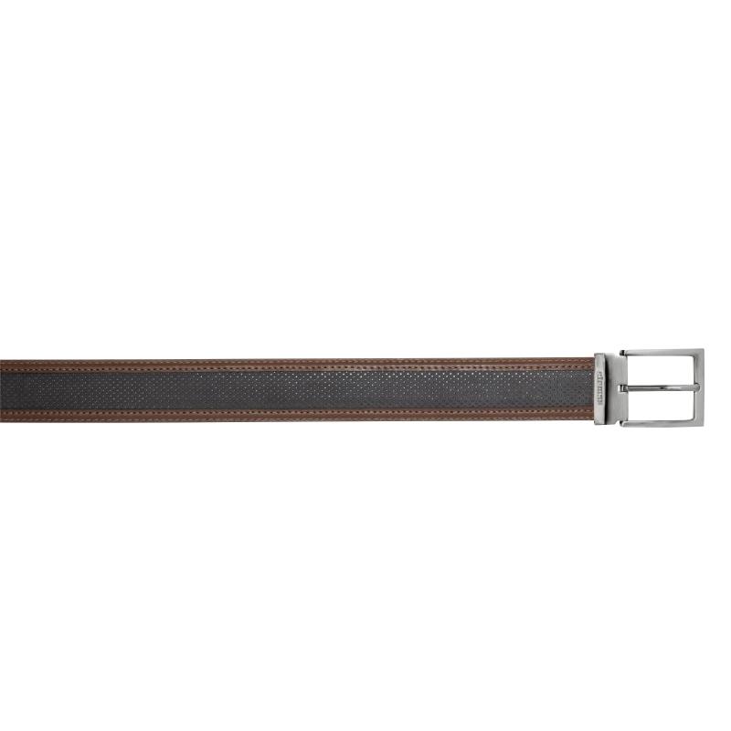 Stemar Positano Perforated Nubuck Belt Black / Brown Image