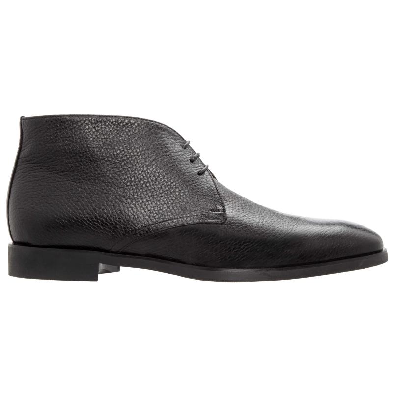 Stemar Ravenna Deerskin Chukka Boots Black WIDE Image