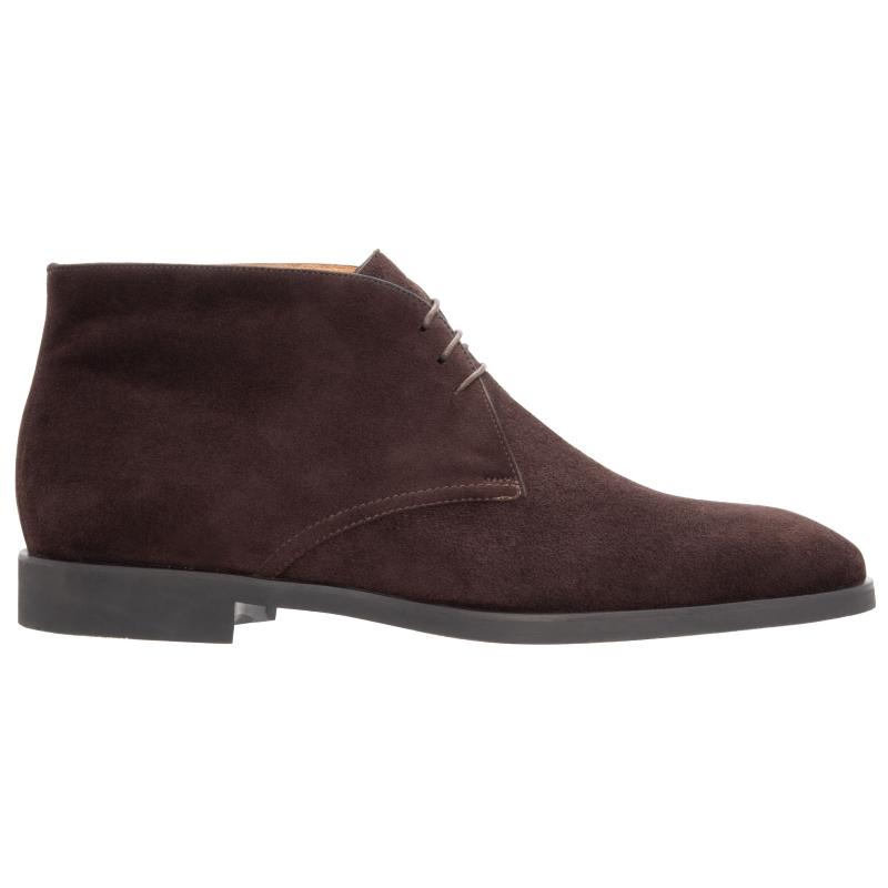 Stemar Ravenna Suede Chukka Boots Dark Brown WIDE Image