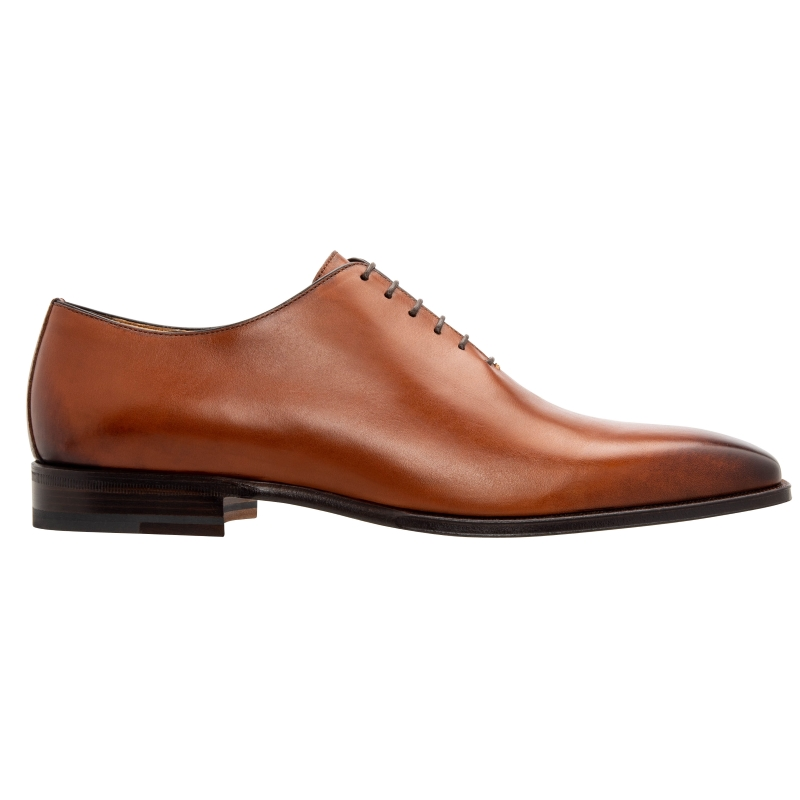 Stemar Roma Calfskin Oxfords Burnshed Tan Image