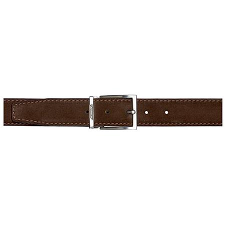 stemar roma suede belt chocolate brown mensdesignershoe