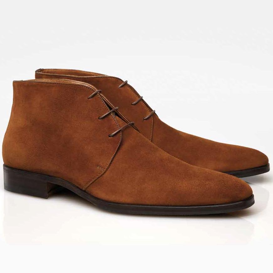 stemar firenze suede chukka boots rust