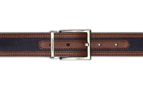 Stemar Ischia Nubuck Belt Black/Brown Image