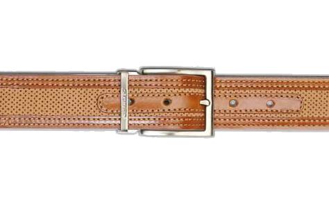 Stemar Ischia Nubuck Belt Tan/Rust Image