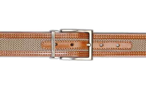 Stemar Ischia Nubuck Belt Taupe/Rust Image