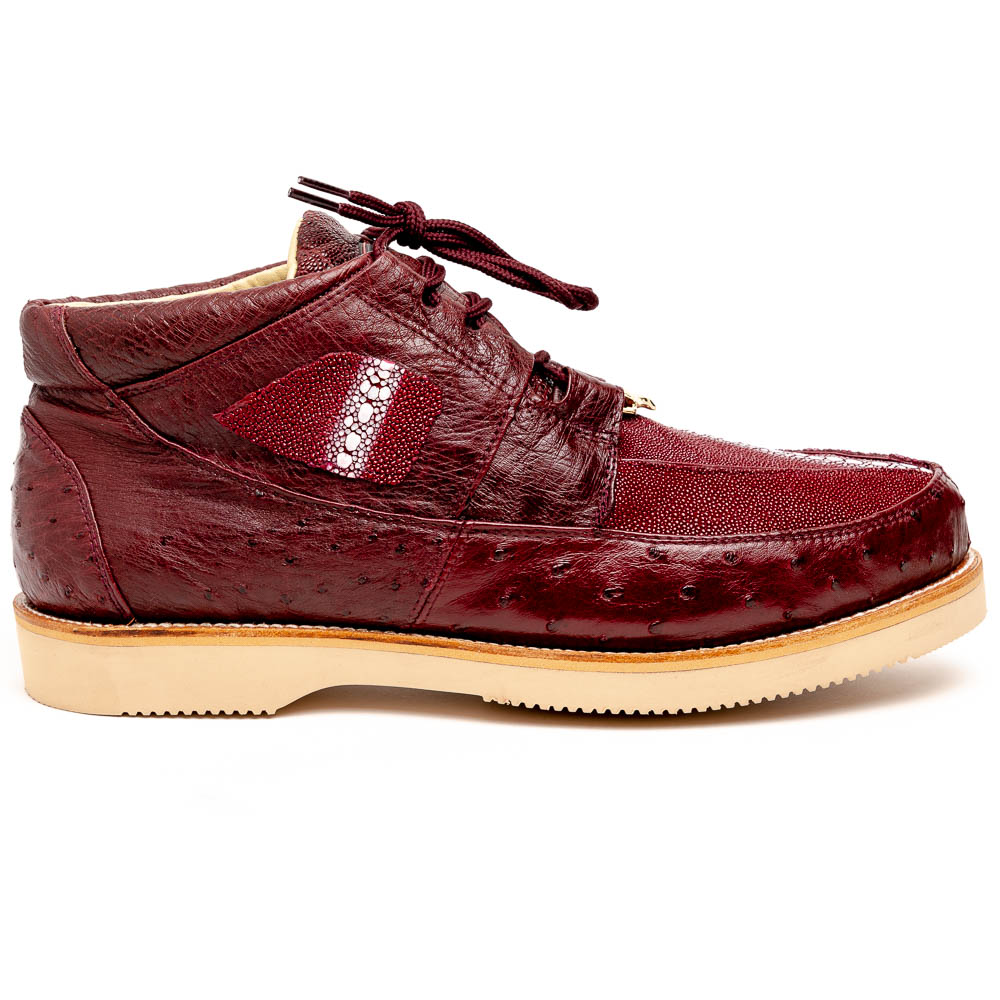 Los Altos Stingray & Ostrich Casual Shoes Burgundy Image