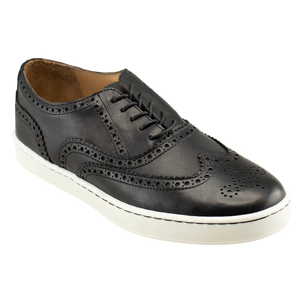 TB Phelps Clubhouse Wingtip Sneakers Black Image