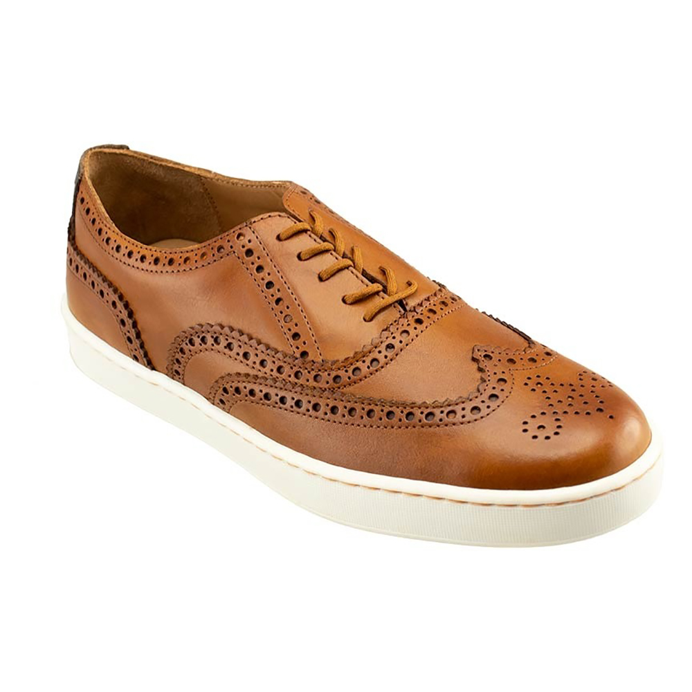TB Phelps Clubhouse Wingtip Sneakers Tan Image
