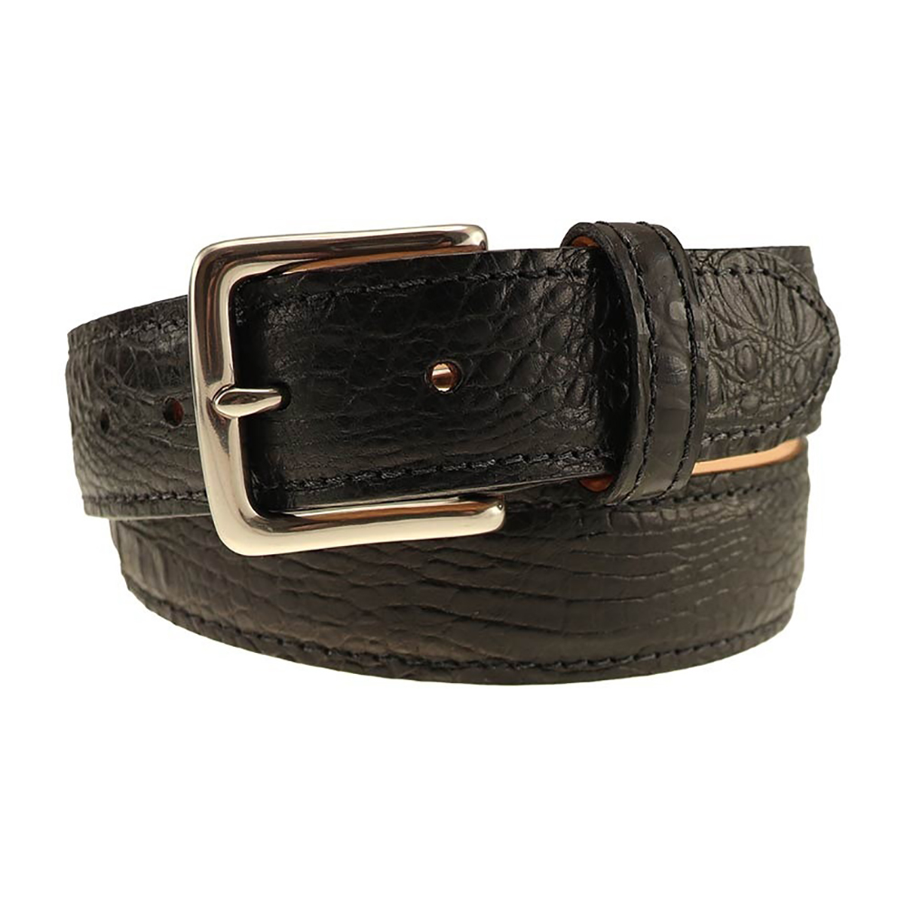 TB Phelps Colombia Croco Dress Belt Black Image