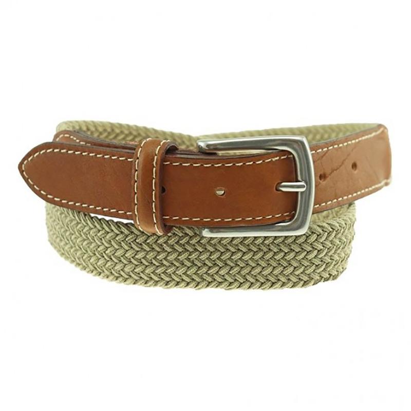 TB Phelps Cooper Elastic Braid & Bison Belt Khaki Image