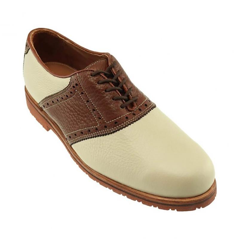 TB Phelps David Oxford Saddle Shoes Ivory / Walnut Image