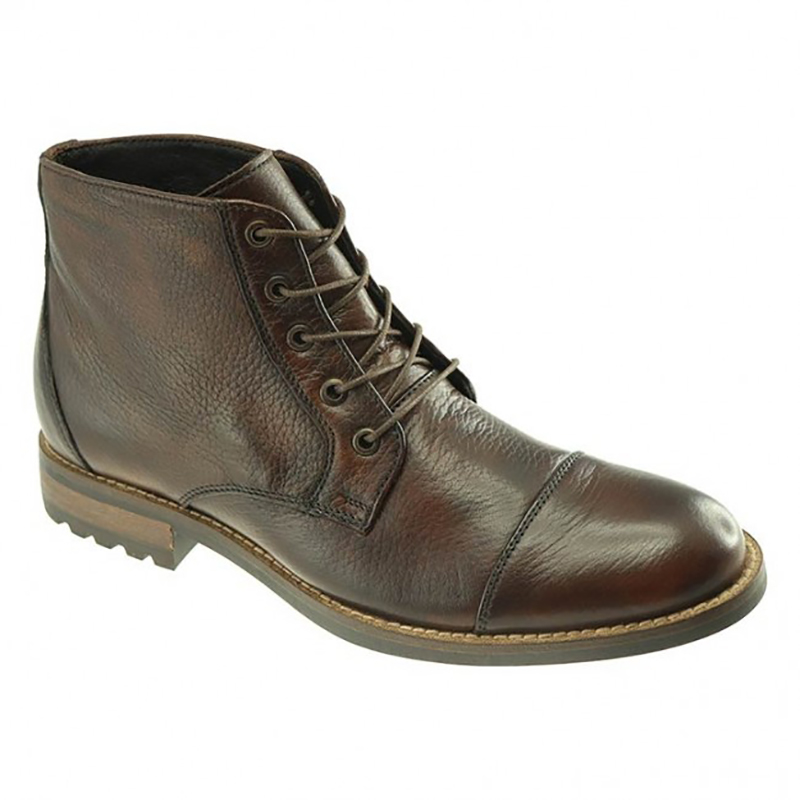 TB Phelps Mansfield Deerskin Boots Mahogany Image