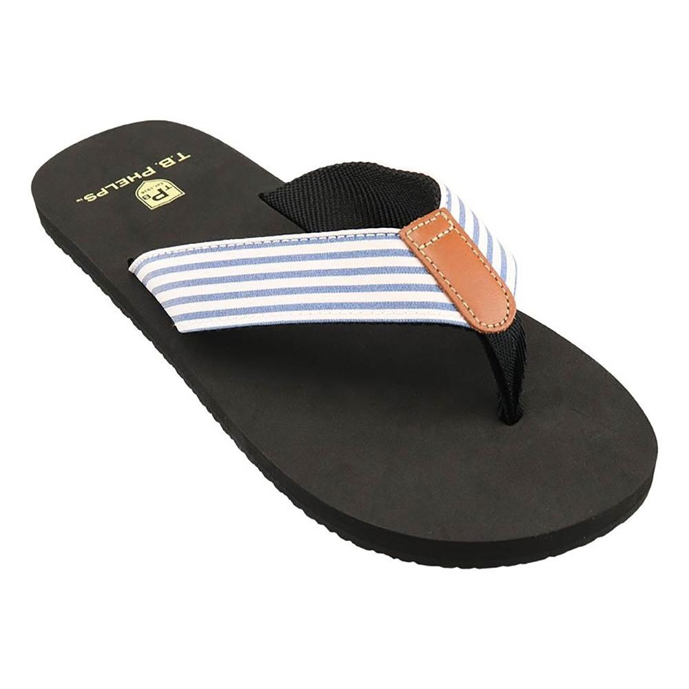 TB Phelps Men's Newport Sandals Seersucker Image