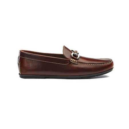 TB Phelps Milano Horsebit Driving Loafers Brown Image