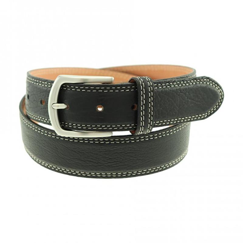 TB Phelps Raleigh Bison Belt Black Image