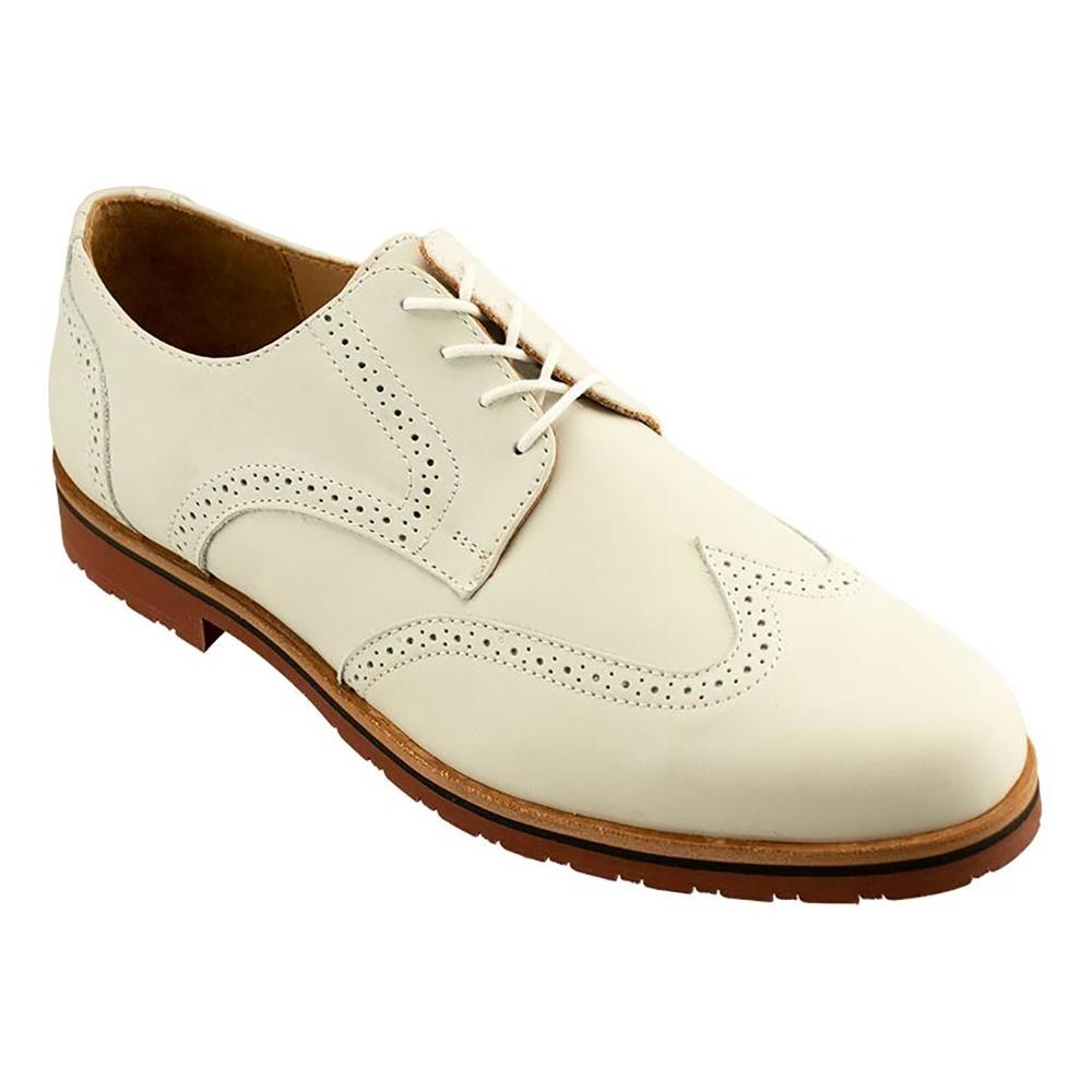 TB Phelps Reggie Suede Wingtip Shoes White Image