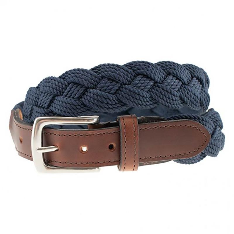 TB Phelps Savannah Cotton Braid Belt Navy Image
